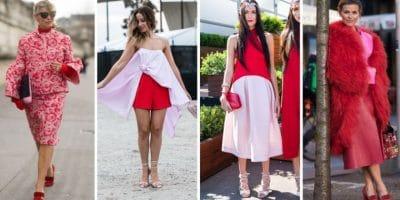 combinar de manera sensual y sexy rojo con rosa