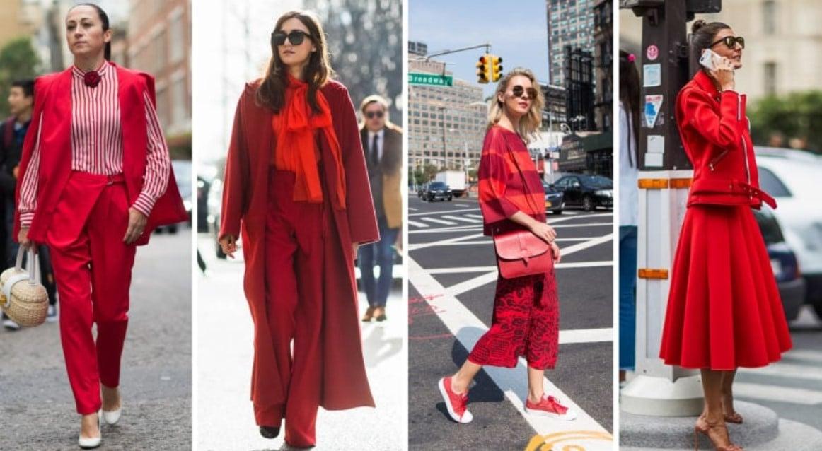 ropa de mujer roja